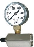Series GTG Gas Test Gages Horizontal