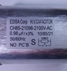 MicroWave Capacitor CH85-21079 0.79 MF 2100 VAC 50/60Hz Oval Internal Discharge Resistors